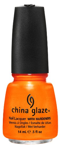 China Glaze Nail Polish, Orange You Hot, 0.5 Fluid Ounce