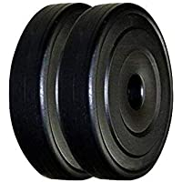 Bodygrip 20 Kg PVC Weight Plate,10 Kg Set of 2