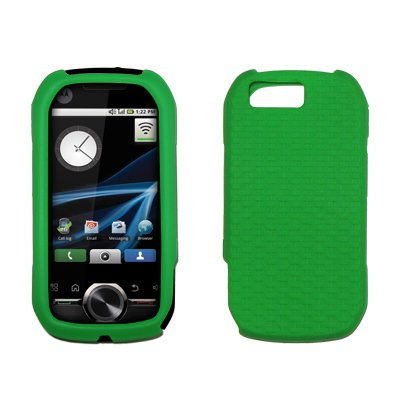 Neon Green Textured Silicone Skin Case for Motorola Opus ()