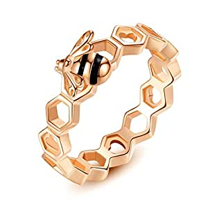 Pandora Style Wedding Fashion Happiness Love Women Ring Rose Gold Plated Qings Brand The Perfect Gift for Mothers 8US