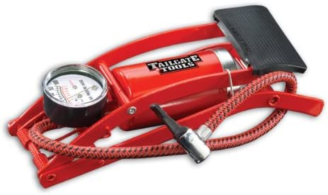 Foot Pump Built In Pressure Gauge Durable 3 Feet Air Hose Posi Latch Thumb Lock