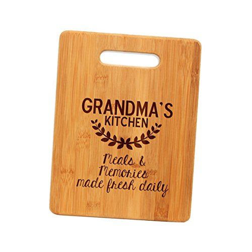 Bamboo Cutting Board Gift for Grandma