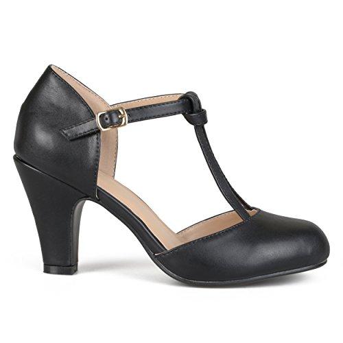 Black Flapper Shoes (Brinley Co Women's TAIS Pump, Black, 6 Regular)