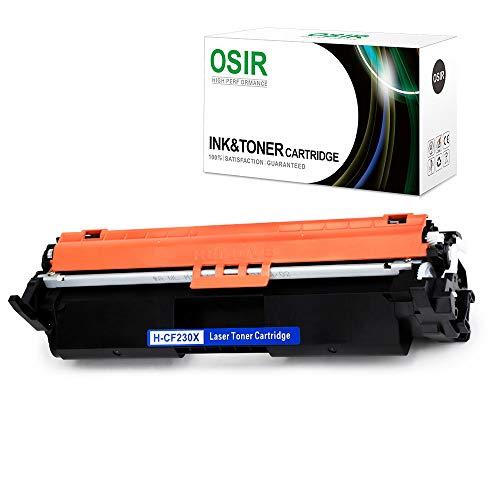 OSIR 1-Black Compatible for HP 30X CF230X 30A CF230A Toner Cartridge, Use on HP Laserjet Pro M203dw M203dn M203d MFP M227fdw M227fdn M227sdn Printer ()