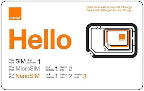 ORANGE Mobicarte - Tarjeta SIM y Micro SIM clásica, Color Naranja: Amazon.es: Electrónica