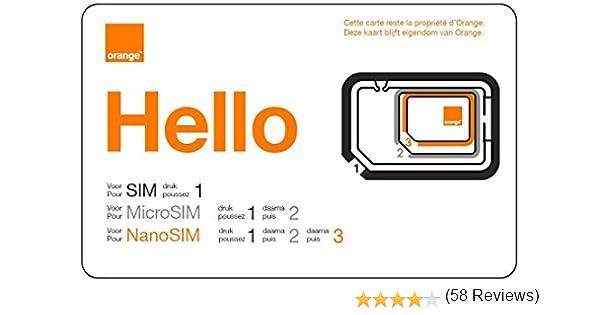 ORANGE Mobicarte - Tarjeta SIM y Micro SIM clásica, Color Naranja ...