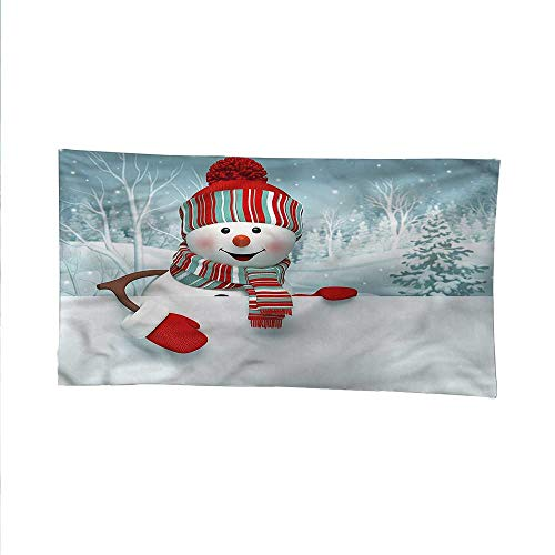 - Snowmanoutdoor tapestryceiling tapestrySmiling 3D Mascot Trees 93W x 70L Inch