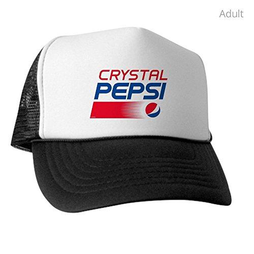CafePress Crystal Pepsi Logo Trucker Hat, Classic Baseball Hat, Unique Trucker Cap