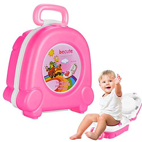 The Latest Baby Toilet Cute Portable Cartoon Travel Potty Car Squatting Children Potty Training Girl Boy Toilet Toilet Outdoor (Pink)
