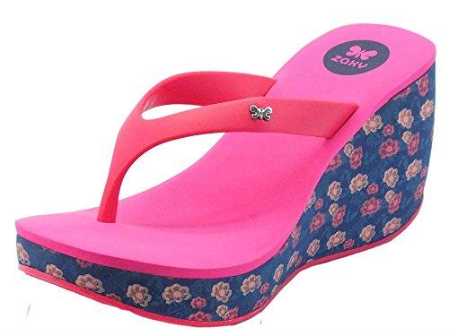 blue Multicolore Pink In Zeppa Per Zaxy Lipstick Blu Rosa Donna Infradito Caucciù Alta fpC1a1
