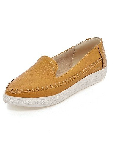 5 Mujer Blanco Zapatos De White Cn39 5 Tacón Bajo Cn35 Mocasines Uk6 Rojo Zq Eu36 Puntiagudos us8 Casual Semicuero us5 Eu39 Amarillo Yellow Uk3 EBqPApn