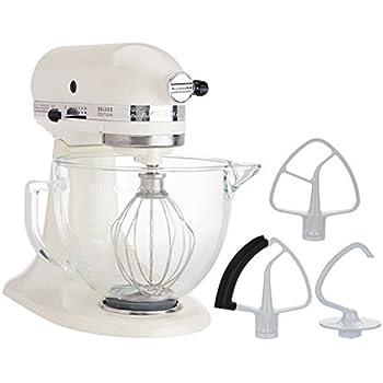 KitchenAid 5-Quart Stand Mixer Glass Bowl Cafe Latte