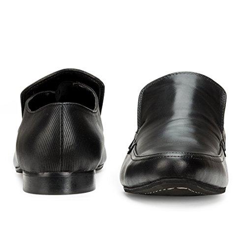 Escaro Men's Leather Formal Slip On Shoe 11 Black by Escaro (Image #3)