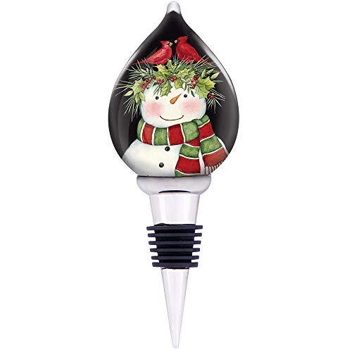 Ne'Qwa Wine Bottle Stopper with Westwood Gourmet Bottle Opener (Frosty's Friends) (Ornament Favorite Frostys)