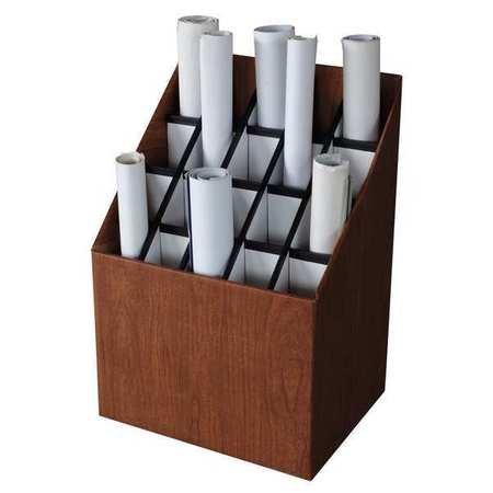 Roll File, 20 Compartments, Fiberboard Fiberboard Roll File