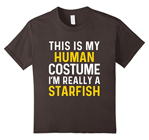 Kids Is My Human Costume I'm Really a Starfish Halloween T Shirt 10 Asphalt - Starfish Costumes