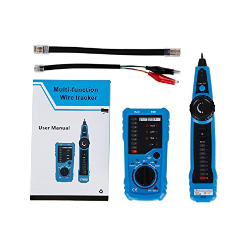 RJ11 RJ45 Cable Tester, LESHP Multifunction Electric Wire Finder Tracker Detector by LESHP (Image #4)