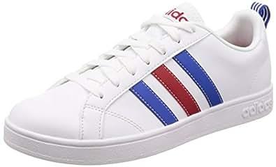 adidas Men's VS Advantage Shoes, Footwear White/Blue/Power Red, 8 US (8 AU)