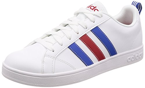adidas Vs Advantage, Men's Running Shoes, Blanco/Azul / Rojo (Ftwbla/Azul / Rojpot), 7.5 UK