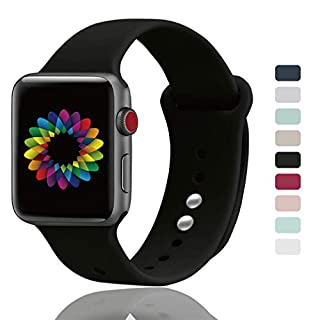 UPOLS Compatible for Apple Watch Band 38mm/40mm 42mm/44mm S/M M/L, Soft Silicone Sport Band for Women&Men, Strap Compatible for iWatch Series 4 Series 3 Series 2 Series 1