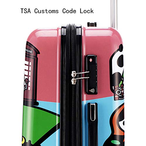 Suitcase, 20-inch children's password box, mute caster luggage, expandable, TSA customs password lock, security anti-theft by HongHe (Image #3)
