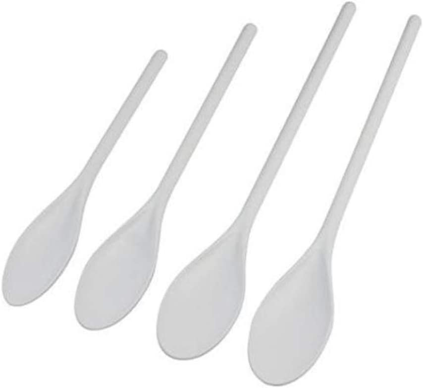 4 White Mixing Spoons. Plastic Cooking Spoons Baking Brewing Spoon Grill. Mixing Spoon Dishwasher Safe.White Plastic Stirring Spoon.: Kitchen & Dining