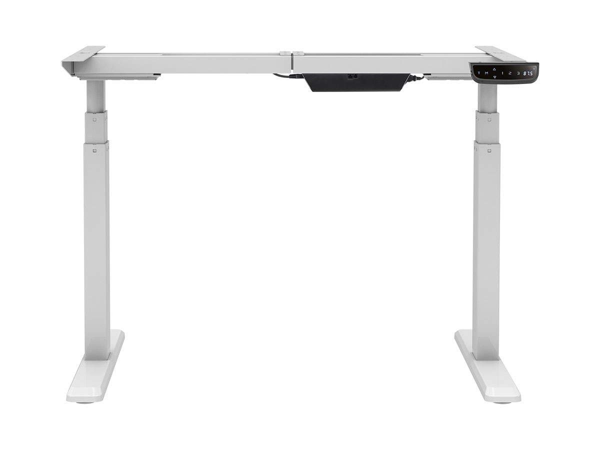 Monoprice Height Adjustable Sit-Stand Riser Table Desk Frame - White with Electric Dual Motor, Compatible with Desktops from 43 Inches Up to 87 Inches Wide - Workstream Collection