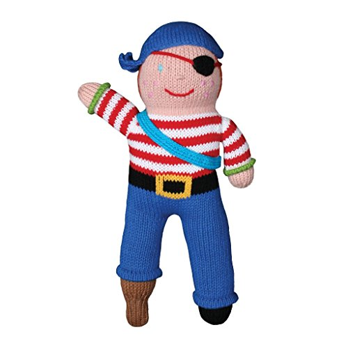 - Zubels Baby Boys' ARR-nee The Pirate Plush Toy Doll, All-Natural Fibers, Eco-Friendly, 12-Inch