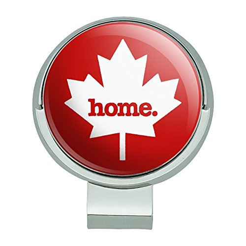 Canada Maple Leaf Home Country Solid Red Officially Licensed Golf Hat Clip With Magnetic Ball Marker