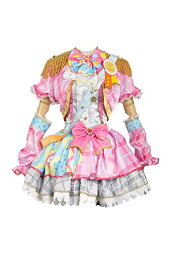 Love Live Fancy Idol Awakening Lolita Dress Cosplay Costume (Small Female, Pink Honoka)