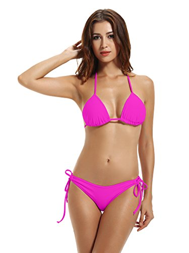 zeraca Women's Tie Side Bottom Triangle  - Leopard Tie Side Bikini Shopping Results
