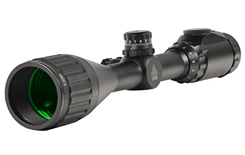 "UTG 3-9X50 1"" Hunter Scope, AO, 36-color Mil-dot, w/ Rings"
