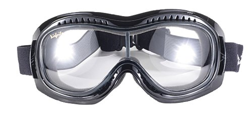 Pacific Coast Airfoil Padded 'Fit Over Glasses' Riding Goggles (Black Frame/Grey Photochromatic)