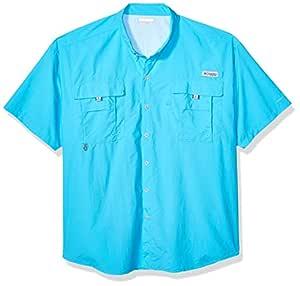 Columbia Men's PFG Bahama™ II Short Sleeve Shirt, Atoll, 1X