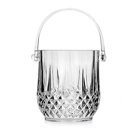 - XYBW Glass Ice Bucket Wine Beer Champagne Cooler with Plastic Tongs