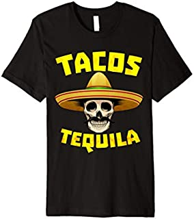 Tacos And Tequila Funny Drinking Gift for Mexican Food Lover Premium T-shirt | Size S - 5XL