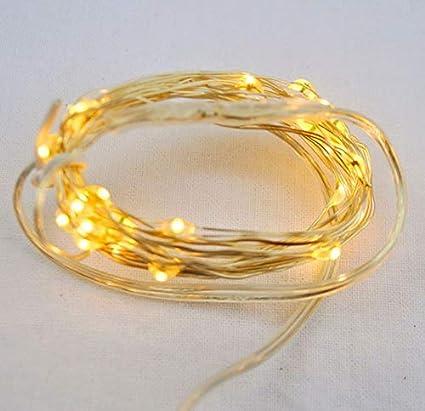 promo code 7f292 93e12 Sharpet 6 ft Battery Operated Warm White LED String Lights ...
