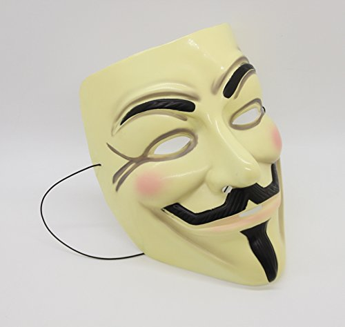 (FixtureDisplays V for Vendetta Mask Guy Fawkes Anonymous Fancy Cosplay Costume)
