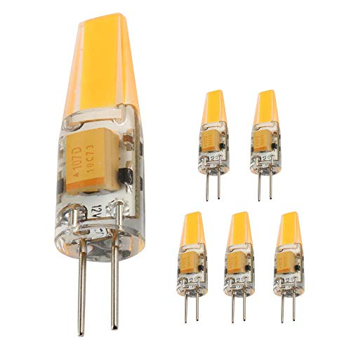 Ukey U G4 LED Bulb 3 Watt Bi-Pin Base 12V AC/DC 2700K Warm White Dimmable Waterproof T3 G4 30W LED Halogen Replacement 5Pack ()
