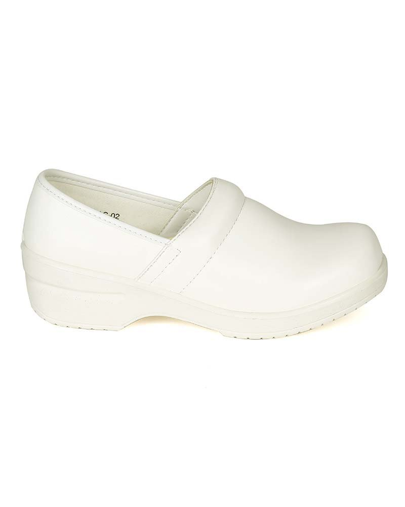 Refresh Women Leatherette Round Toe Slip On Clog BH36 - White (Size: 8.0) by Refresh (Image #2)