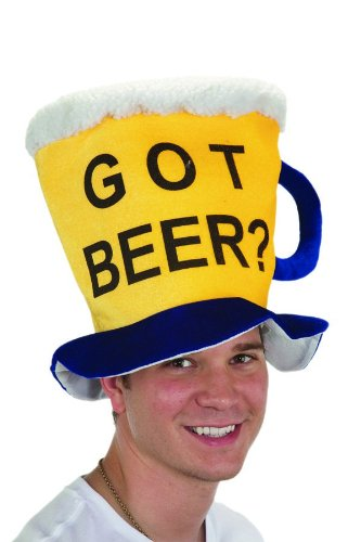 [Jacobson Hat Company Men's Velvet Got Beer Mug Hat, Yellow, One Size] (Food Halloween Costumes For Adults)