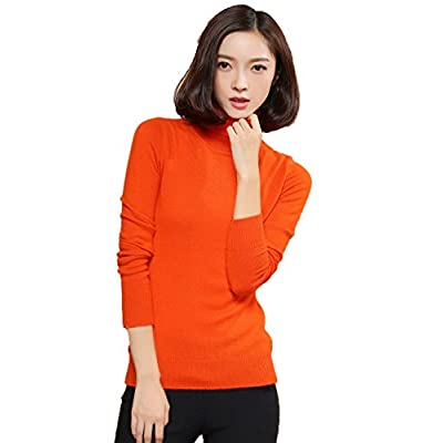 Cheap Xiouli Women's 100% Pure Cashmere Long Sleeve Pullover Turtleneck Sweater 7204 for sale