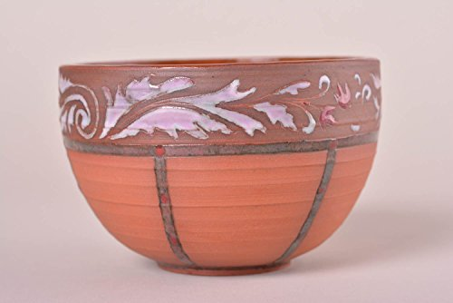 Ceramic Pottery Handmade Bowl Beautiful Clay Pottery With Unusual Paintings