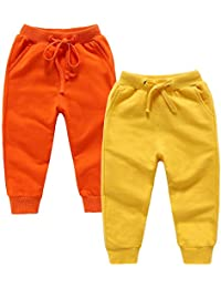 Toddler Sweatpants Unisex Cotton Sports Jogger Kids Pants for Boys&Girls 2-6