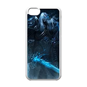 iphone5c phone case White The Lich King World of Warcraft WOW KKD7819058