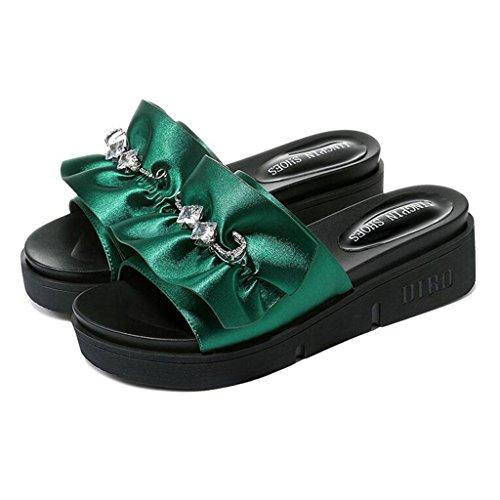 Beach Green Spiaggia Fashion Green Da Outdoor cn36 Infradito Dimensioni Flop Xy Shoes Ciabatte Flip Summer Bottom Sandali Eu36 E colore uk4 Pw4zRI
