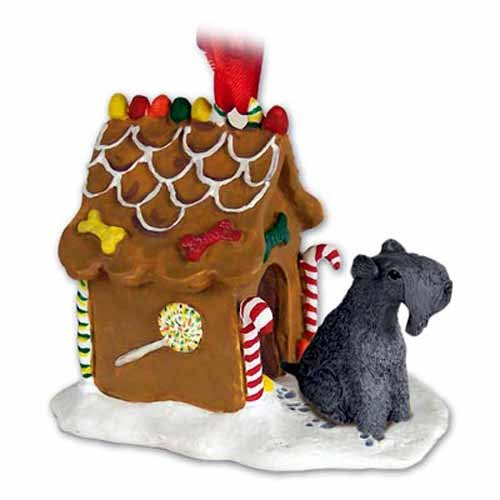 Kerry Blue Terrier Ornaments (Kerry Blue Terrier Ginger Bread House Ornament)