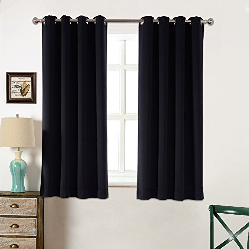Blackout Curtains Thermal Insulated Grommet