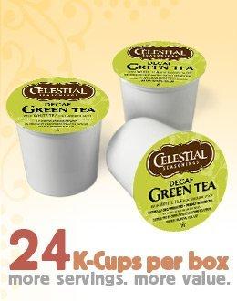 Celestial Seasonings DECAF Green Tea 24 K-Cups (Pack of 4) for Keurig Brewing Systems by Celestial Seasonings