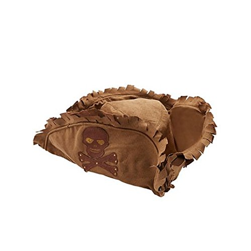 Fancy Party Halloween Kids Brown Tattered Pirate Hat ()